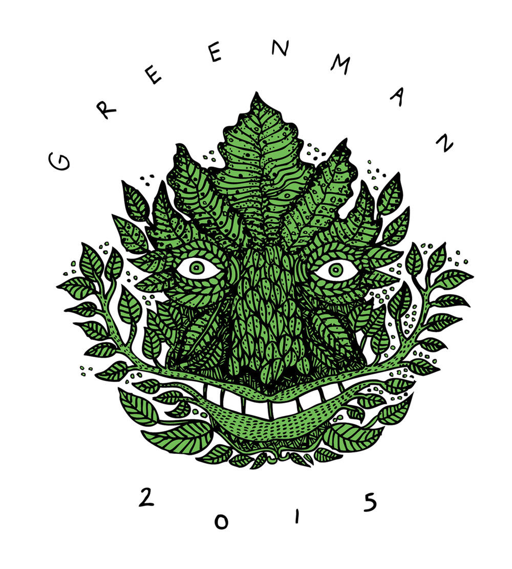 Tshirt design for Greenman Festival 2015 - Polly Nor - POLLY NOR
